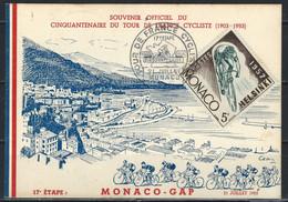 RZ-/-051- BELLE CARTE MAX.  Sur Le TOUR DE FRANCE, 17 Eme ETAPE Du 21/07/1953, De MONACO A GAP,  LES IMAGES POUR DETAILS - Usados