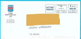 NOUVEAU Marque De Tri CS [50100] EMA ML 083791 Aude Mairie Ouveillan - Mechanische Stempels (varia)