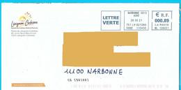 NOUVEAU Marque De Tri CS [50100] EMA ML 126031 Aude Mairie Lézignan Corbières - Mechanische Stempels (varia)