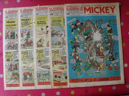 5 N° Du Journal De Mickey 1939. Jojo Richard Pim Pam Poum Jim La Jungle Cora Tempête Malheurs D'annie - Journal De Mickey