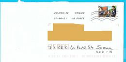 Marque De Tri TL 0101/93 Pointillé Timbre Carnet Tous Engagés Coronavirus Covid Pandémie Masque Poste Postier Facteur - Mechanische Stempels (varia)