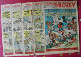 5 N° Du Journal De Mickey 1938-1939. Jojo Richard Pim Pam Poum Jim La Jungle Cora Tempête Malheurs D'annie - Journal De Mickey