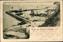 CPA Sassnitz Auf Der Insel Rügen, Hafenmole - Autres