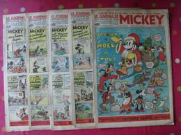 5 N° Du Journal De Mickey 1938. Jojo Richard Pim Pam Poum Cora Tempête Malheurs D'annie - Journal De Mickey