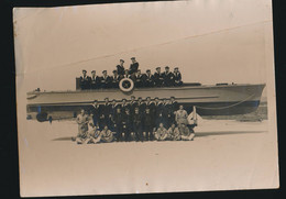 Photographie - Ancienne Photo équipage Marins - Marine - Bateau à Saint Mandrier Var - War, Military