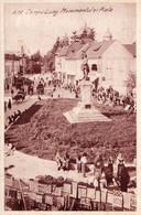CÂMPULUNG MUSCEL / ARGES : MONUMENTUL Si PIATA - EDITURA 'ALBANIA' / CONSTANTA - BUCURESTI ~ 1948 (ah584) - Rumania