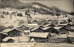 CPA Leysin Kt. Waadt Schweiz, Blick Auf Den Ort Im Winter, Hotels - VD Waadt