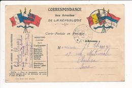 Carte En Franchise Militaire CHASSY CELESTIN 5e Bataillon De Chasseurs à Pied BESANCON - Franquicia Militar (Sellos)