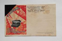 Cartolina Pubblicitaria Ditta E. Dalla Volta Agenzia Olivetti, 1930 - Pubblicitari