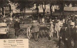 Bastogne Machines Agricoles  Fortunat Gérard  Rue De Marche Et Rue Des Remparts Super Animée Très Rare N'a Pas Voyagé - Bastogne