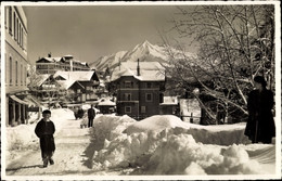CPA Leysin Kt. Waadt Schweiz, Avenue Rollier Et Le Pic Chaussy, Hiver, Neige - VD Waadt