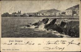 CPA Las Palmas De Gran Canaria Kanarische Inseln, Blick Auf Den Ort, Klippen - Sonstige