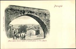 CPA Perugia Umbria, Arco Della Conca Sopra Al Quale Passa La Via Appia - Autres
