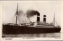 CPA Steamer Westernland, Dampfschiff, Red Star Line - Sin Clasificación