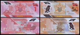 Trinidad And Tobago 1-50 Dollars, (2021), Polymer, UNC - Trinidad Y Tobago