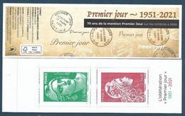 BC Marianne Gandon Engagée - 70 Ans De La Mention Premier Jour Sur Les Timbres à Date (2021) Neuf** - Unused Stamps