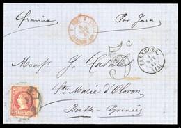 1860, Spanien, 45, Brief - Unclassified