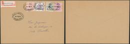 école Postale (1885) - 25C , 60C + 1F + Elström Surcharge SPECIMEN Sur L. En Recommandé > Bruxelles - 1970-1980 Elström