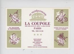 """Paris En Montparnasse """"La Coupole"""" Fraux Lafon & Fils Restaurant Brasserie Bar Americain Dancing (peintrre Sculpteur Mus - Cafés, Hôtels, Restaurants"""