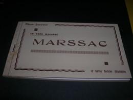 12 Cartes Postales En Carnet Album Souvenir Marssac Le Pont L Ecole La Place L Avenue L Usine A Chaux Apa Poux TTB - Zonder Classificatie