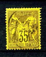93 - 35c Violet Sur Jaune Sage Type II (N/U) - Oblitéré - Beau - 1876-1898 Sage (Tipo II)