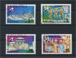 MALEDIVEN 1992 Nr 1713-1716 Gestempelt (119685) - Maldives (1965-...)