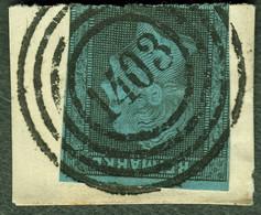 """Deutschland Preussen ~1962 Michel-# 11 """" Vierringstempel 1403 = Soest Auf Enggeschnittenem Briefstück """" Michel Nb € - Prussia"""