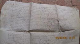 Daté De 1565, PARCHEMIN MANUSCRIT 46 X 50 Cm - Cachets Généralité