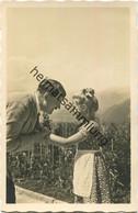 Hitler Mit Kind - Foto-AK - Rückseitig Zudruck - War 1939-45