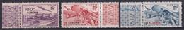 """1946 - ALGERIE - TIMBRES De BIENFAISANCE Des PTT - YVERT FRANCE 51/53 (COTE = 30 EUR) Mais SURCHARGES """"ALGERIE"""" ** MNH - Unused Stamps"""