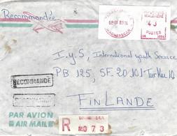 "Madagascar 1983 Tananarive RP Post Office Meter Camp ""PR"" 1004 EMA Registered Cover - Madagascar (1960-...)"
