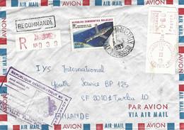 Madagascar 1983 Tananarive Analakely Meter Camp PR Blocked Space UPU Special Handstamp EMA Registered Cover - Madagascar (1960-...)
