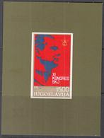 JUGOSLAWIEN  Block 18, Postfrisch **, Kongress Des Bundes Der Kommunisten Jugoslawiens, 1978 - Blokken & Velletjes