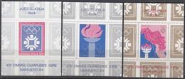JUGOSLAWIEN  Block 22, 24+25, Postfrisch **, Olympische Winterspiele Sarajevo, 1984 - Blokken & Velletjes