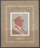 JUGOSLAWIEN  Block 23, Postfrisch **, Tito, 1983 - Blokken & Velletjes