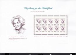 BRD 2159, 10erBogen Ungebraucht, Umzeichnung, Dokumentation Stichtiefdruck Von Phil-Selection, Nelly Sachs, 2001 - Blocchi