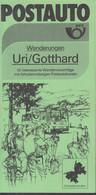 SCHWEIZ Postauto, PTT-Bus, Uri/Gotthard, Routen, Ausflüge Und Wandervorschläge, Sommer 1984 - Europa