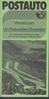 SCHWEIZ Postauto, PTT-Bus, Uri/Nidwalden/Obwalden, Routen, Ausflüge Und Wandervorschläge, Sommer 1984 - Europa