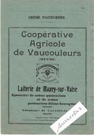 """1934 P 148 Pub Lait, Crème / Coop Agricole Vaucouleurs 55 / Laiterie Maxey-sur-Vaise / """"Aux Armes De Jehanne D'Arc"""" - Levensmiddelen"""