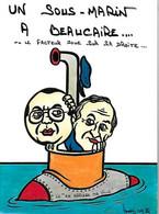 Humour - Satirique -Un Sous Marin à BEAUCAIRE - Le En Arrière Ma Ville - Le Facteur Joue Sur Sa Droite - 1988 - Humour