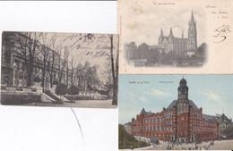 DC5750 - Ak Essen 3 Karten Lot St. Gertrudis-Kirche Hauptpostamt Essen An Der Ruhr Stadtgarten Terrasse Und Saalbau - Essen