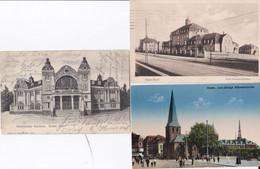 DC3384- Ak Essen 3 Karten Lot Städt. Krankenhaus 1000 Jährige Münsterkirche Städtischer Saalbau Essen An Der Ruhr - Essen