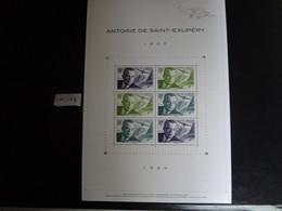 """FRANCE 2021 BLOC FEUILLET  """" ANTOINE DE SAINT EXUPÉRY 1900 1944  """", Neuf** 6 TIMBRES GOMMÉS DENTELÉS AVIATEUR FRANÇAIS - Nuevos"""