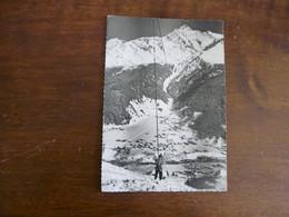 LES CONTAMINES - MONTJOIE (Hte-Savoie) -Sports D'Hiver - Vue Générale - Le Monte-Pente Du Mont Joly Et Le Mont-Blanc - Contamine-sur-Arve