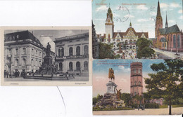 DC3920- Ak Duisburg 3 Karten Lot Rathaus Salvatorkirche Kaiser-Wilhelm Denkmal Aussichtsturm Kaiserberge Königstrasse - Duisburg