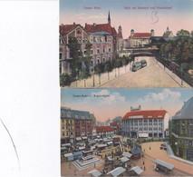 DC5626- Ak Essen 2 Karten Lot Bahnhof Und Handelshof Ruhr Kopstadtplatz - Essen
