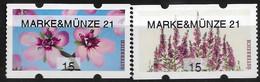 2021  Austria Österreich AWZ Automatenmarken  Timbres De Distributeurs   Mi. 68-9 **MNH MARKE&MÜNZE 21 - 2011-... Unused Stamps