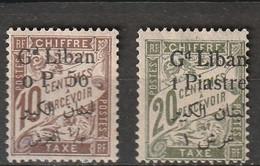 GRAND LIBAN    Timbres Taxe    N° Y&T  TA6 Et TA7  * - Portomarken