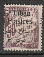 GRAND LIBAN    Timbre Taxe    N° Y&T  TA9  * - Portomarken