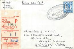 U.K. - Railway Letter - From Portsmouth To Swindon - Marcofilie